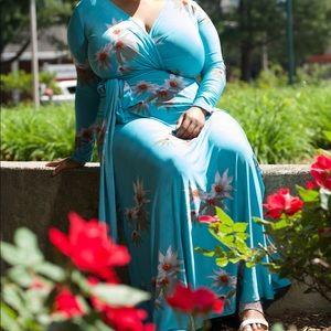 Blue Maxi Dress.